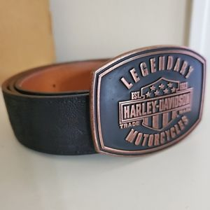 Elephant belt with Harley-Davidson buckle